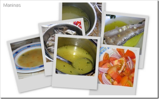 fish soup collage